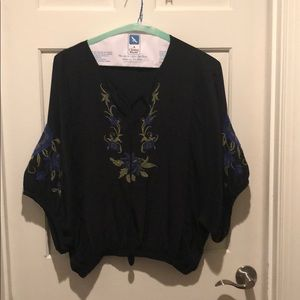 Black blouse. Perfect with jeans